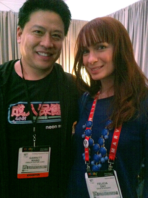 Gibson CES 2013 - Felicia Day with Garrret Wang