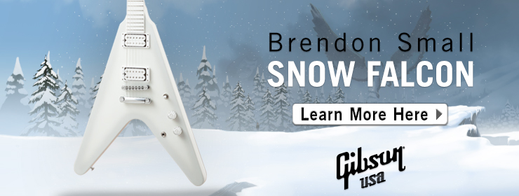 Gibson USA - Brendon Small Snow Falcon Flying V