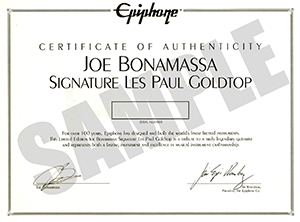 Certificate of Authenticity hand-signed by Slash