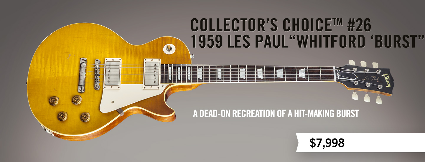 "Collector's Choice™ #26 1959 Les Paul ""Whitford 'Burst"""