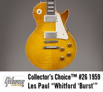 Collector's Choice 26 1959 Les Paul Whitford Burst