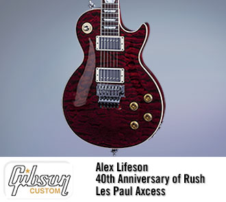 Alex Lifeson 40th Anniversary of Rush Les Paul Axcess